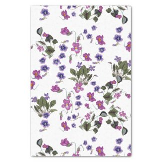 Garlands of Violets Floral Tissue Paper 10x15