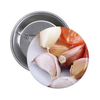 Garlic and Chili Pepper Pin
