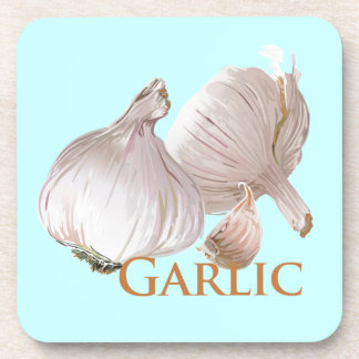 Garlic and Garlic Clove Coaster