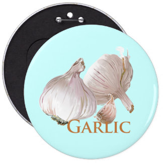 Garlic and Garlic Clove Pinback Button
