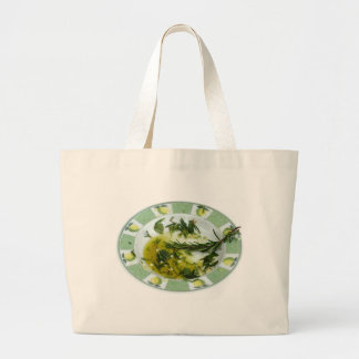 Garlic and herb infused olive oil large tote bag