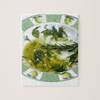 Garlic and herb infused olive oil puzzles
