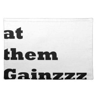 Garlic ate them gains! placemat