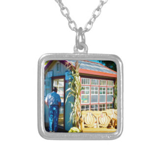 Garlic Bench Silver Plated Necklace