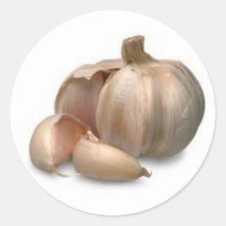 Garlic bulb classic round sticker