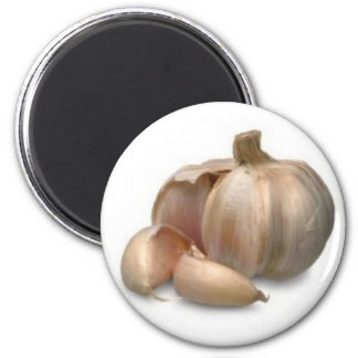Garlic bulb fridge magnets