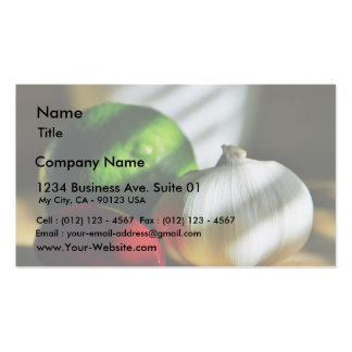 Garlic Bulbs Limes Chillies Peppers Chili Business Card