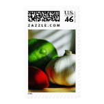 Garlic Bulbs Limes Chillies Peppers Chili Postage Stamp