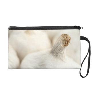 Garlic bulbs wristlet purse