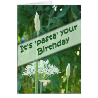 Garlic Chive Belated Bday-customize Card
