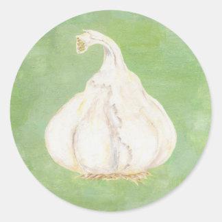 Garlic clove sticker