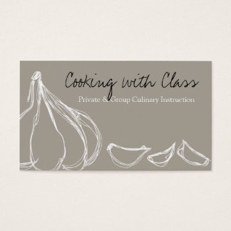 Garlic cloves chef cooking culinary business ca... business card