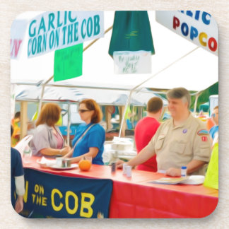 Garlic Corn On The Cob Coaster