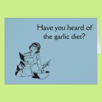Garlic Eating Humor Card