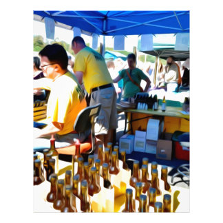 Garlic Festival offers garlic vinegar and olive oi Letterhead