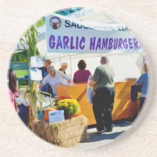 Garlic Hamburgers Coasters