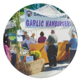 Garlic Hamburgers Dinner Plate