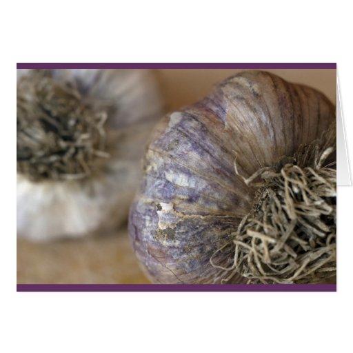 Garlic heads card