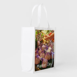 Garlic in Seattle Market Reusable Grocery Bag