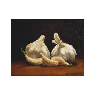 Garlic in Situ Original Oil Painting Canvas Print