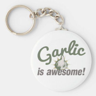 Garlic is Awesome! Basic Round Button Keychain