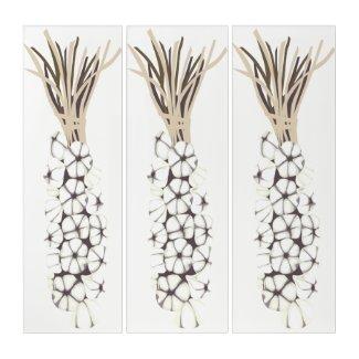 Garlic Kitchen Or Living Area Art Triptych (3) 36
