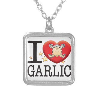 Garlic Love Man Square Pendant Necklace