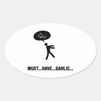 Garlic lover oval sticker