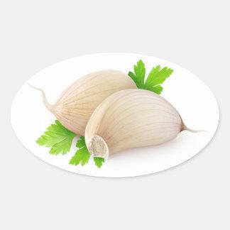Garlic Oval Sticker