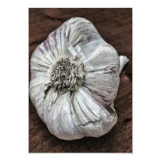 Garlic photo card