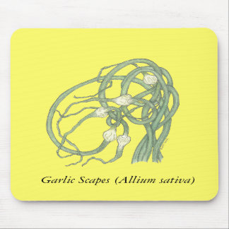 Garlic Scapes Mousepad (yellow)