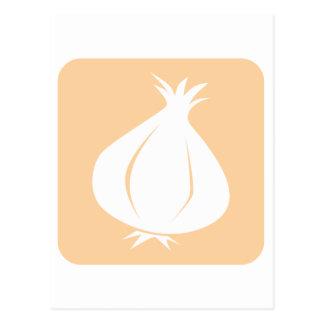 Garlic Vegetable Icon Postcard