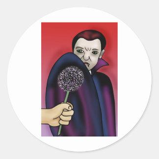 Garlic Wards off the Vampire's Bite Classic Round Sticker