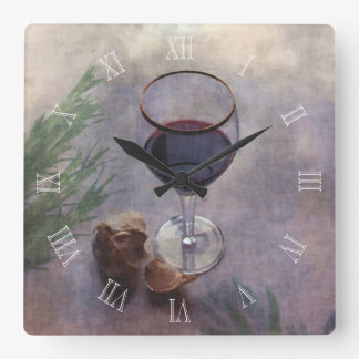 Garlic wine and herbs clock