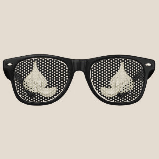 Garlic Woodcut Icon Retro Sunglasses