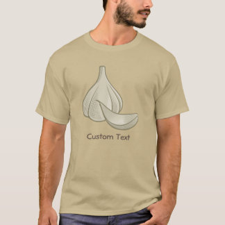 Garlic Woodcut Icon T-Shirt