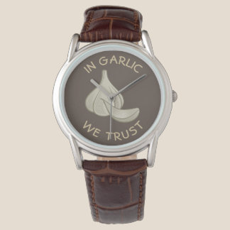 Garlic Woodcut Icon Watch