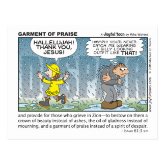 Garment of Praise postcard