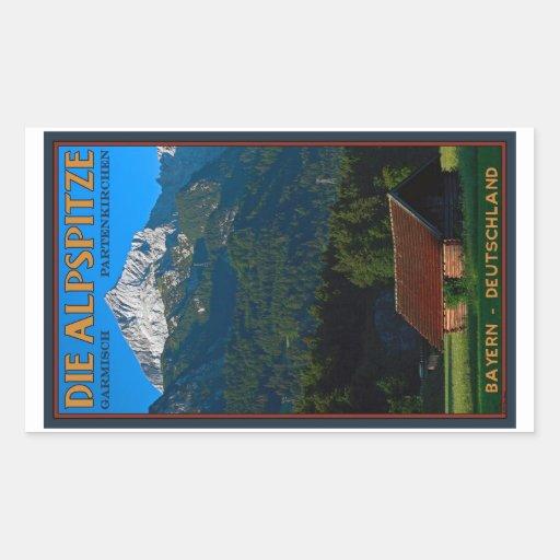 Garmisch - el Alpspitze Pegatina Rectangular