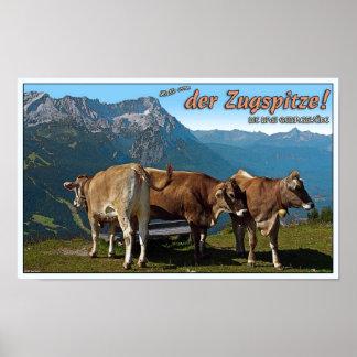 Garmisch - Hallo from the Zugspitze! Poster