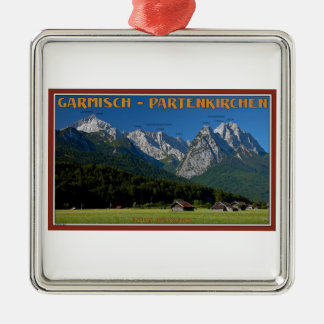 Garmisch - The Zugspitze and Alpspitze Metal Ornament