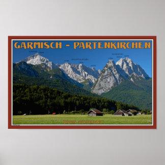Garmisch - The Zugspitze and Alpspitze Poster