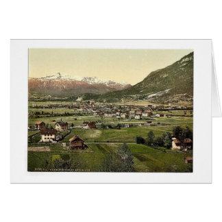 Garmisch visión general vin de Baviera superior Tarjetón