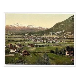 Garmisch visión general vin de Baviera superior Tarjetas Postales