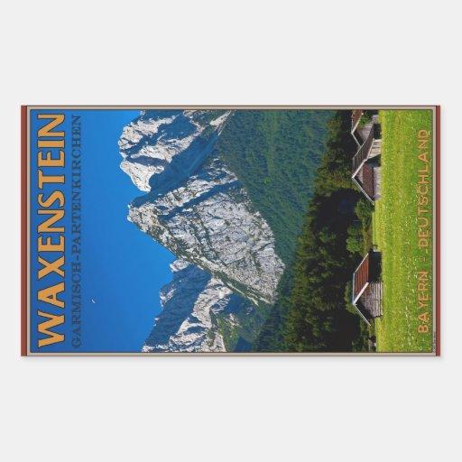 Garmisch - Waxenstein Pegatina Rectangular