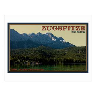 Garmisch - Zugspitze above the Eibsee Postcard