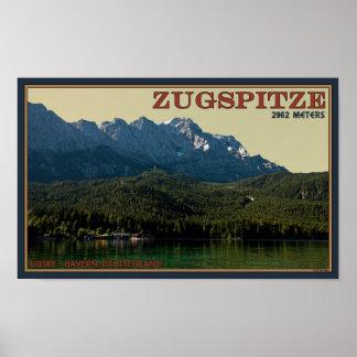 Garmisch - Zugspitze above the Eibsee Poster