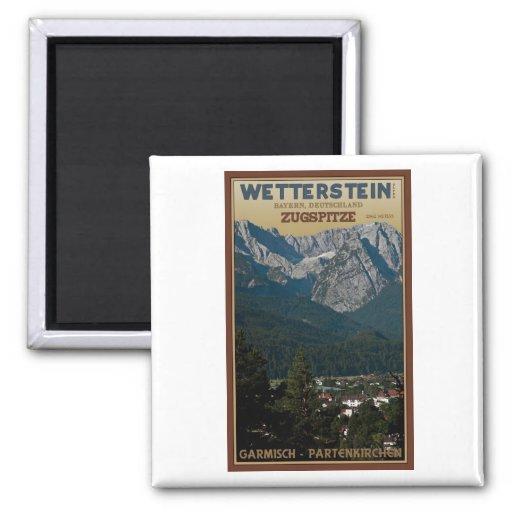 Garmisch - Zugspitze above Town Refrigerator Magnet