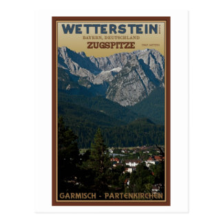 Garmisch - Zugspitze above Town Postcard
