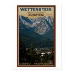 Garmisch - Zugspitze sobre ciudad Postales